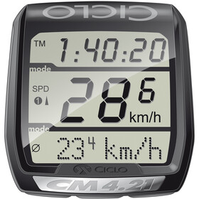 Ciclosport CM 4.21 Fahrradcomputer mit Herzfrequenzmessung schwarz